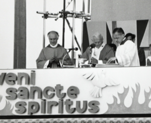 Our altar at John Paul II's visit to Coventry in 1982